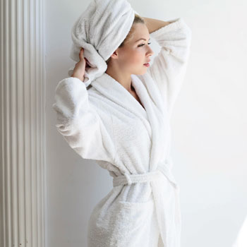 LodgMate Terry Velour Hotel Bath Robe - OSFM