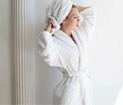 LodgMate Terry Velour Hotel Bath Robe - OSFM