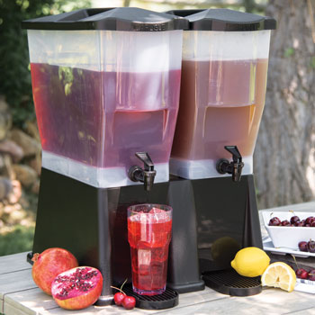 Double Iced Tea/Lemonade Dispenser