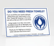 Fresh Towels? Table Tents 100/pk.