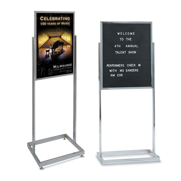Double Pedestal Sign Holders