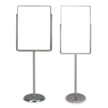 Single Pedestal Sign Holders