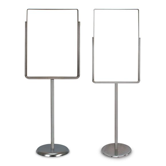 Single Pedestal Sign Holders