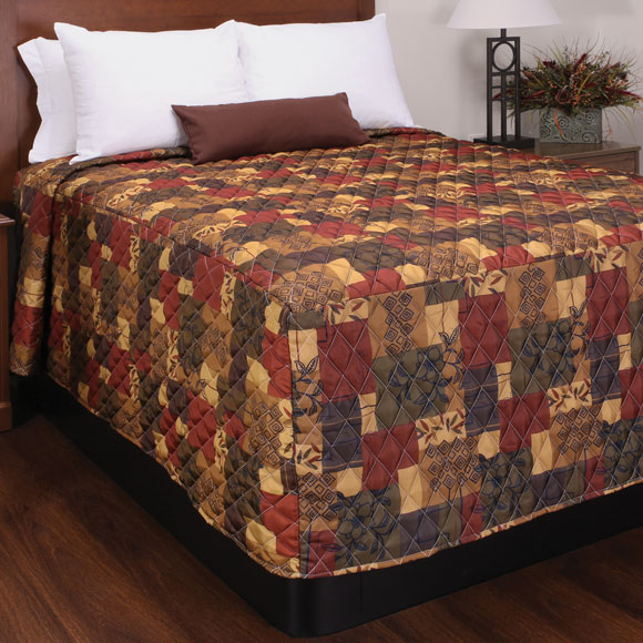 Trevira Quilted Polyester Fitted Style Bedspreads Verona