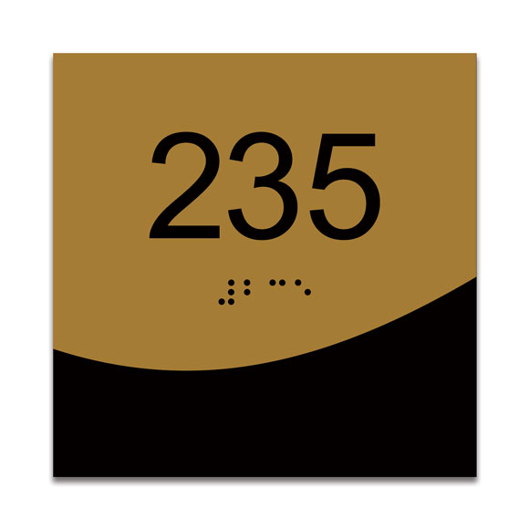 "Villa 4"" x 4"" ADA Braille Room Number Sign"