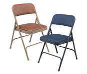 Upholstered Vinyl Folding Chairs