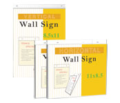 Wall Mount Sign Holders - 8.5