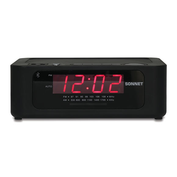 Wireless Alarm Clock Radio w/ 2 USB & Bluetooth