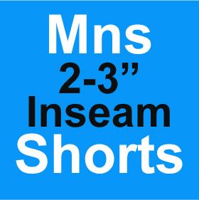Mens Shorts 2-3 Inch Inseam