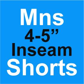 Mens Shorts 4-5 Inch Inseam