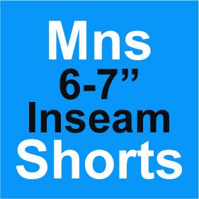 Mens Shorts 6-7 Inch Inseam