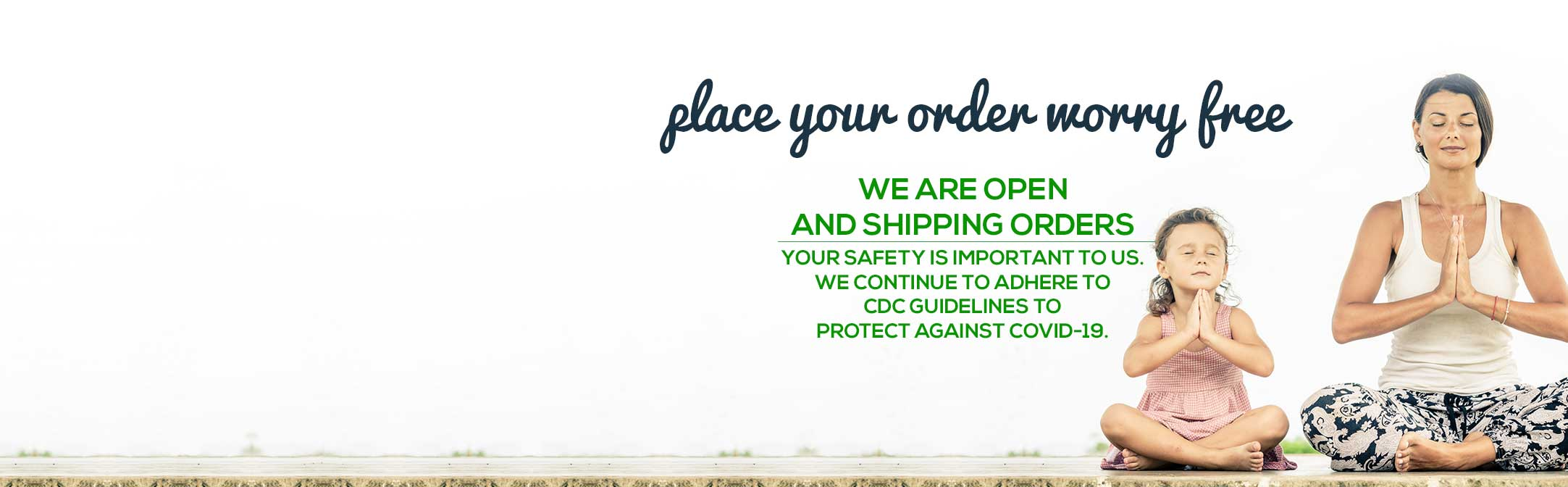 We are open and shipping orders.