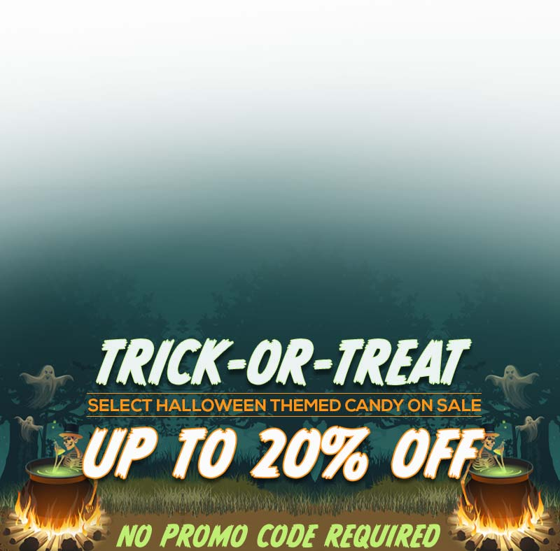 Select Halloween themed candy up to 20% off. Shop All Halloween Candy