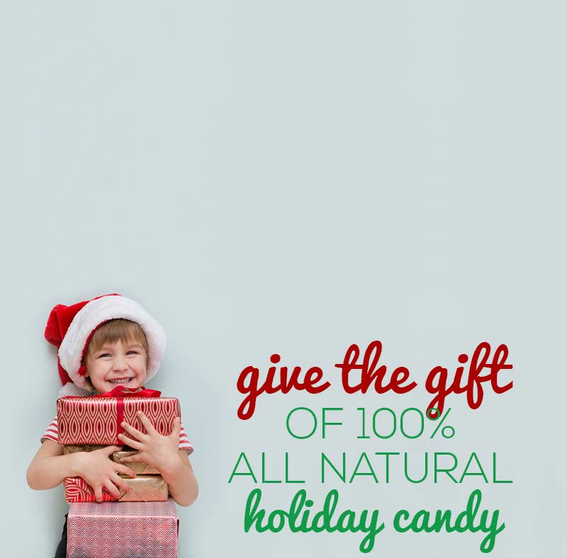 100% all natural holiday candy