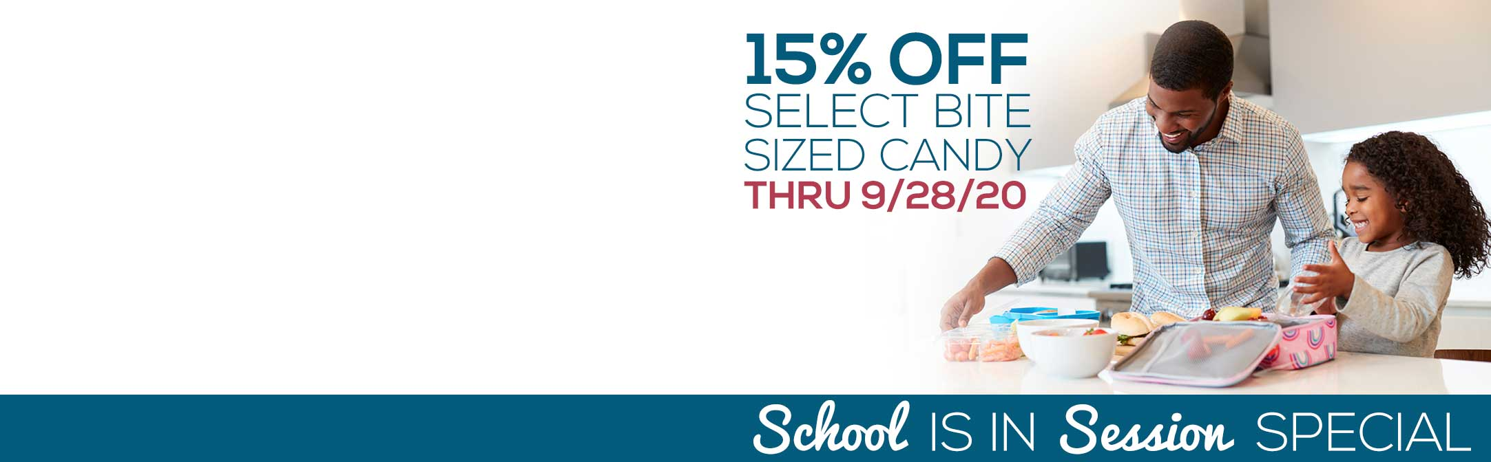 15% off bite sized candy