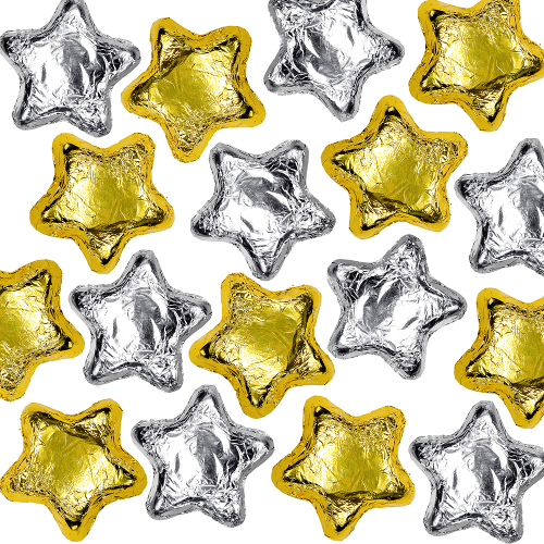Milk Chocolate Stars - Silver & Gold