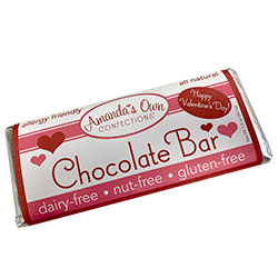 Allergy-Friendly Chocolate Bar - Valentine's Day