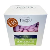 Natural Jordan Almonds - Pink * 2.2 LB