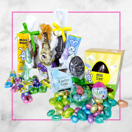 Natural Easter Bunnies and Eggs