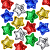 Milk Chocolate Stars - Assorted Colors