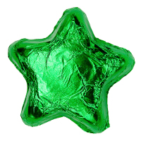 Thompson Milk Chocolate Stars - Green