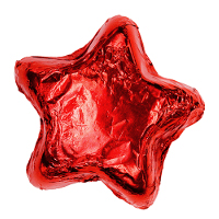 Thompson Milk Chocolate Stars - Red