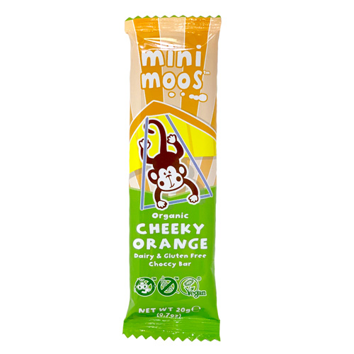 Mini Moo Free Chocolate Bar - Cheeky Orange