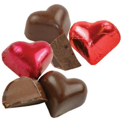 "Organic Vegan ""Milk"" Chocolate Hearts"