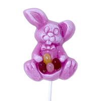 Pink Bunny with Beans Lollipop