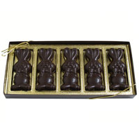 Allergy-Friendly Dark Chocolate Smiling Bunnies