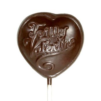 Allergy-Friendly Chocolate Heart Lollipop