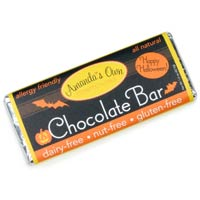 Allergy-Friendly Happy Halloween Chocolate Bar