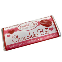 Allergy-Friendly Chocolate Bar - Valentine's Day