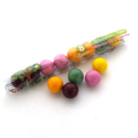 Natural Jumbo Gumballs Tube - Citrus Berry