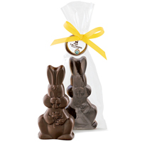 Dark Chocolate Bunny - Organic & Fair Trade