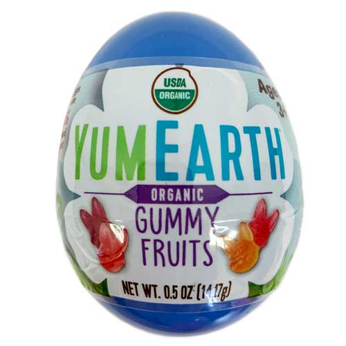 Eco Egg filled with YumEarth Organic Gummy Fruits - BLUE