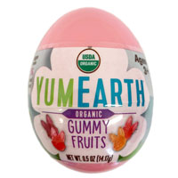 Eco Egg filled with YumEarth Organic Sour Beans - PINK