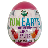 Eco Egg filled with YumEarth Organic Gummy Fruits - PURPLE