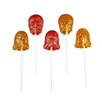 Organic Ghosts & Skulls Lollipops