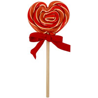 Organic Cherry Heart Lollipop