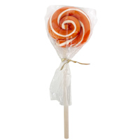 Organic Swirl Lollipop - Orange