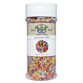 Carnival Mix Natural Sprinkles * 6 OZ