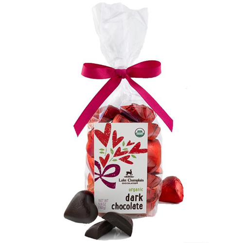 Hearts Gift Bag, Dark Chocolate (21 pc)
