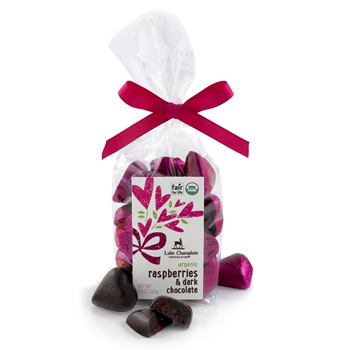 Hearts Gift Bag, Raspberries & Dark Chocolate (21pc)