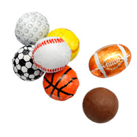 Milk Chocolate Sports Balls