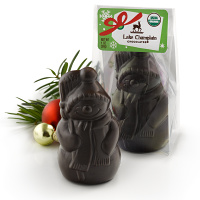 Mini Dark Chocolate Snowman