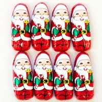 Thompson Mini Milk Chocolate Santas