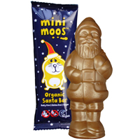 Mini Moo Free Chocolate Bar - Organic Santa