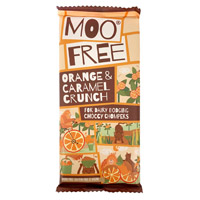 Moo Free Chocolate Bar - Orange & Caramel Crunch