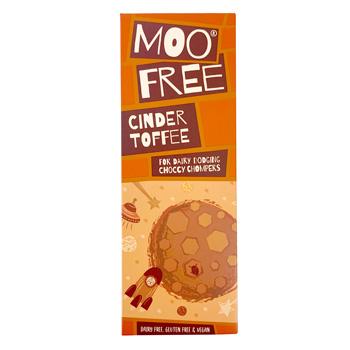 Moo Free Premium Organic Chocolate Bar - Cinder Toffee